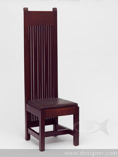 Chair for the Ward Willets House designed by Frank Lloyd Wright