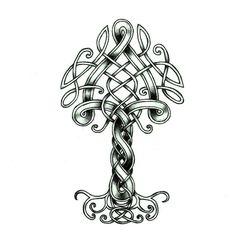 Yggdrasil by Kraaku on DeviantArt Norse Mythology Tattoo, Norse Tattoo, Celtic Tattoos, Viking Tattoos, Tree Of Life Art, Celtic Tree Of Life, Vikings, Celtic Patterns, Celtic Designs