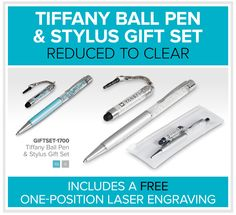 Tiffany Ball Pen & Stylus Gift Set Stylus, Laser Engraving, Tiffany, Gifts, Presents, Favors, Style, Gift