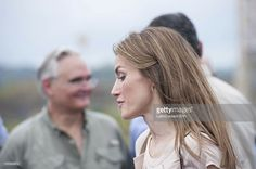 Princess Letizia Ortiz, during their visit to the expansion works of the Panama Canal, on October 04, 2012 in Panama City, Panama.