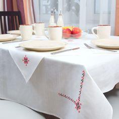 Ukrainian Style Linen Tablecloth with Napkins