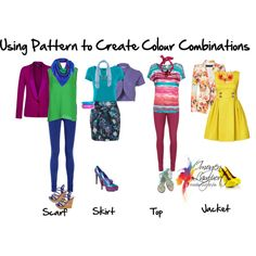 Using pattern to create colour combinations, created by imogenl on Polyvore