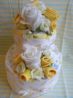 Quaint Little Diaper Cake Can be made for ANY by babycakesanddecor