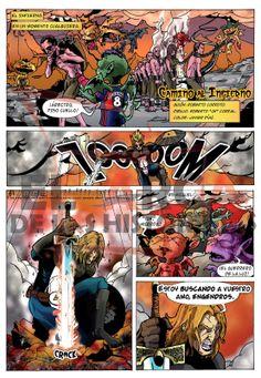Camino al Infierno ~ Guión: Roberto Corroto ~ Dibujo: Roberto Corral ~ Color: Javier Díaz ~ Próximamente en El Arca de las Historietas nº1 ~ www.elarcadelashistorietas.com