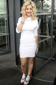 Rita Ora...Turn Down For What??? Thay dress and Them Jayss. Girl giving it to the gawds