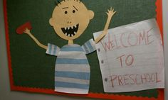 No David! bulletin board to welcome students. Welcome To Preschool, No David, School Stuff, Back To School, Door Bulletin Boards, September Crafts, Welcome Students, Beginning Of Year, Author Studies