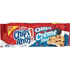 Nabisco Chewy Chips Ahoy! Oreo Creme Filled Soft Cookies, 9.6 oz