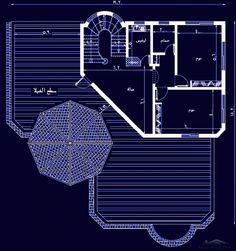 تصميم فيلا دورين وملحق مساحة الارض 25 25 متر My House Plans House Design Pictures Family House Plans