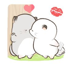 LINE Stickers Super Soft Simao & Bamao and have fun with the lovely Simao.,Stickers,Tiwan Stickers,Stickers (not in TH),Example with GIF Animation Cute Couple Cartoon, Cute Cartoon Pictures, Cute Love Cartoons, Cute Love Pictures, Cute Love Gif, Cute Cat Gif, Cute Animal Drawings Kawaii, Cute Kawaii Animals, Cute Drawings