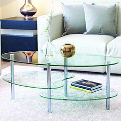 New Ryan Rove Ashley – Oval Two Tier Glass Coffee Table – Coffee Tables Living Room, Kitchen, Bedroom ? Office – Glass Shelves Under Desk Storage – Silver Clear Glass online shopping – Perfectfurniture – Glass Office Desk Oval Glass Coffee Table, Side Coffee Table, Glass End Tables, Coffee Table With Storage, Coffee Table Design, Coffee Desk, Table Storage, Glass Table, Storage Shelves