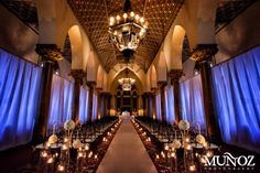 Wedding in the historic Cathedral room.  www.bocaresort.com/weddings.  Credit: Munoz Photography