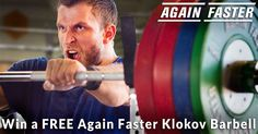 Enter for your chance to win one of ten Again Faster Klokov Competition Barbells. Once you enter, share with your friends to get more chances to win!