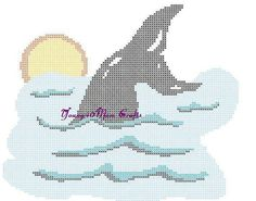 I've decided to turn this one into a pillow.  I'm in the process of stitching it now.  Whale Tail Counted Cross Stitch pattern only by Young40Mom on Etsy, $4.00