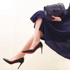 Stiletto Heels, High Heels, Christian Louboutin, Stockings, Pumps, Shoes, Women, Fashion, Socks