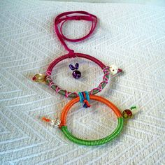 "Summer 2013 Casual collection ""Casual Necklaces"" Series Circles of life twin-colorful. A necklace you can't miss."