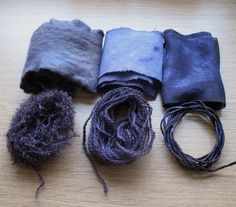 Items dyed with Logwood Chips
