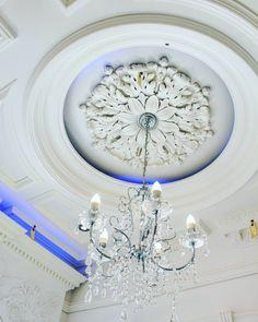 Plaster Ceiling Rose Victorian Hexagonal Design 495mm