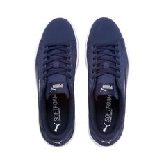 Chaussure Basket Smash V2 Buck, Blancrosenoir, Taille 35.5 from Puma on 21 Buttons