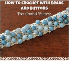 Crochet edges and crochet borders are the greatest finishing touches to many crochet patterns out there. In our latest eBook, How to Crochet Edges & Make Crochet Borders on Patterns, we'll provide you with easy crochet edging patterns. Crochet Beaded Bracelets, Wire Crochet, Tunisian Crochet, Learn To Crochet, Crochet Crafts, Crochet Necklace, Crochet Projects, Crochet Jewelry Patterns, Crochet Stitches Patterns