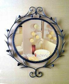 Iron Bathroom Mirrors | Fashion iron bathroom mirror iron frame makeup mirror dressing mirror ...