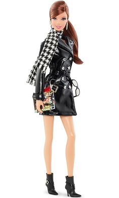 """Barbie Gets a Tim Gunn Makeover: Exclusive First LookBarbie's Trench CoatThis $25 accessory pack features a patent """"leather"""" trench coat, cozy houndstooth scarf, and buckled booties. $25 at barbiecollector.com and Target stores in August."""