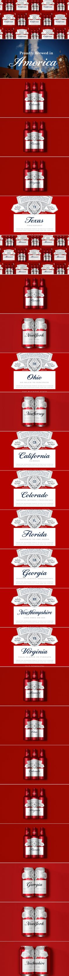 11 Budweiser Summer State Cans from NY to CA — The Dieline | Packaging & Branding Design & Innovation News
