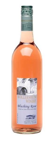 Blushing Rose by Wollersheim Winery of Wisconsin.  Very good semi-sweet wine. Perfect balance.  One of our favorite standbys. 5 stars