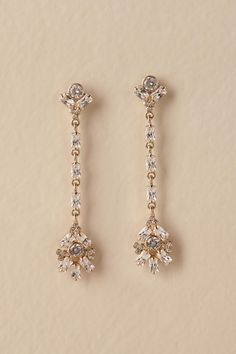 Gold Savona Drop Earrings Bhldn Princess Wedding Dresses Gowns Fall