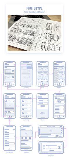 Broadcast App Design UI APP界面 Excalibur_CZ - 原创作品 - 站酷 (ZCOOL) App Wireframe, Wireframe Design, App Ui Design, Interface Design, Design Design, Mobile App Design, Android App Design, Prototype App, Application Design