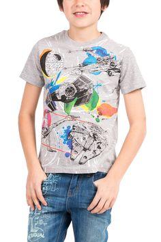 Camiseta de Star Wars gris | Desigual Baseball