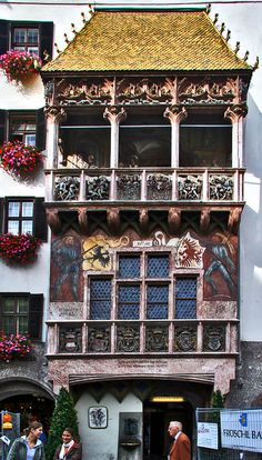 The Golden Roof - Innsbruck, Austria The story of the Golden roof was very funny. Clever King...