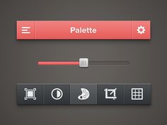 Photo Tool UI [PSD] by Alexander Zaytsev