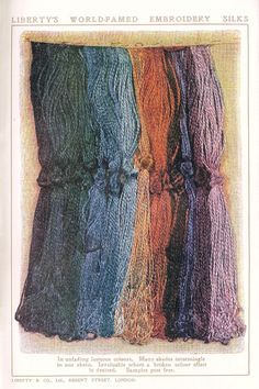 Vintage skeins of Liberty embroidery silks - Liberty Silk page 195