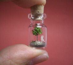 OMG. Magical tiny world in a bottle. This would have been my favorite thing in whole world as a little girl