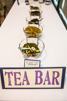TEA BAR - DIY Chicago Wedding from Jennifer Shaffer Photography