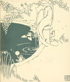 The frog prince , 1874Illustrations by Walter Crane Inside Cover