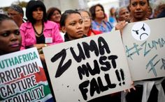 Demonstrators protest against South African President Jacob Zuma's firing of his finance minister on Friday Jacob Zuma, South Africa, Finance, Friday, Pictures, Photos, Economics