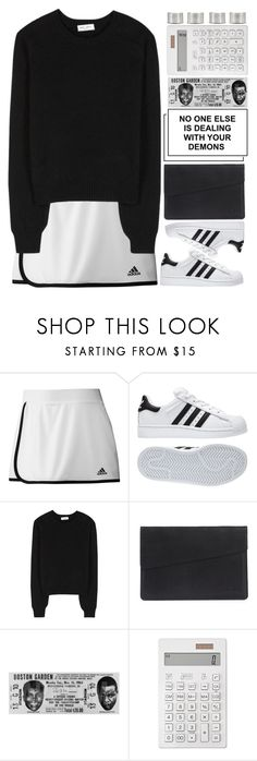 """if you wanna go I do not mind, I'm not the kinda drum you play one time"" by ginga-ninja ❤ liked on Polyvore featuring adidas, Yves Saint Laurent, Muji and Maison Margiela"