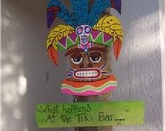 Tropical Tiki Bar Wood Sign by DreamCreationsArt on Etsy