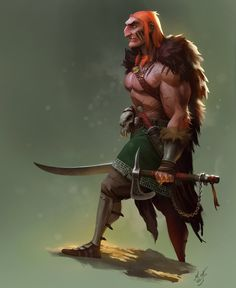 Half-troll, Magnus Norén on ArtStation at https://www.artstation.com/artwork/half-troll