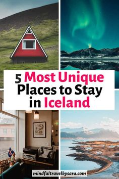 Trying to decide where to stay in Iceland? This guide breaks down the coolest and most unique places to stay in Iceland. The best cabins, hotels and guesthouses with views of lakes, glaciers and the Northern Lights. Best Places To Stay In Iceland | best areas in iceland | what to see in iceland | bucket list locations in iceland | best towns in iceland | what to do in iceland | travel tips for iceland | iceland travel guide | iceland travel itinerary #iceland #icelandtravel Best Hotels In Iceland, Iceland Travel Tips, Travel Guide, Travel Ideas, Travel Route, Travel Packing, Holiday Iceland, Northern Lights Iceland, Viajes