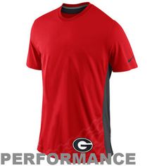 Nike Georgia Bulldogs Speed Legend Performance T-Shirt - Red