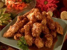 Gussie's Fried Chicken with Pecan-Honey Glaze recipe from Paula Deen via Food Network