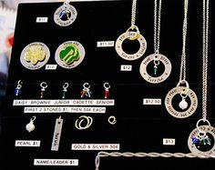 GIRL SCOUT BRIDGING necklace ; Troop Gift ; Troop Leader ; Cookie Mom ; These are Bulk Prices for 4 necklaces or more!
