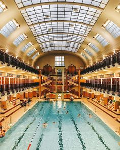 presents you the most beautiful indoor swimming pools in Vienna. Perfect for cold days by Wonderful Places, Beautiful Places, Budapest, Inside Pool, Pool Picture, Heart Of Europe, Indoor Swimming Pools, Vienna, City
