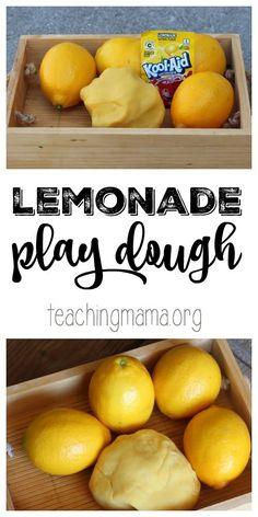 Lemonade Play Dough - a super simple recipe for play, that smells like lemonade!