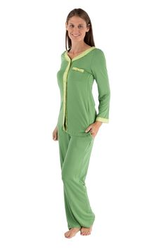 6d0d5649c7 Lejeapy Women s Long Sleeve Pajama Set (Eco Nirvana) Eco-Friendly Clothing  by Texere