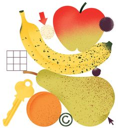 © on Giacomo Bagnara Illustration Inspiration, Fruit Illustration, Graphic Design Illustration, Illustrations And Posters, Digital Illustration, Graphic Art, Branding, Nursery Drawings, Collages