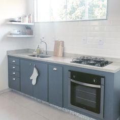 Cozinha Planejada Cinza Urânio puxador concha
