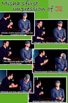 Misha Collins, Jared Padalecki and Jared Ackles
